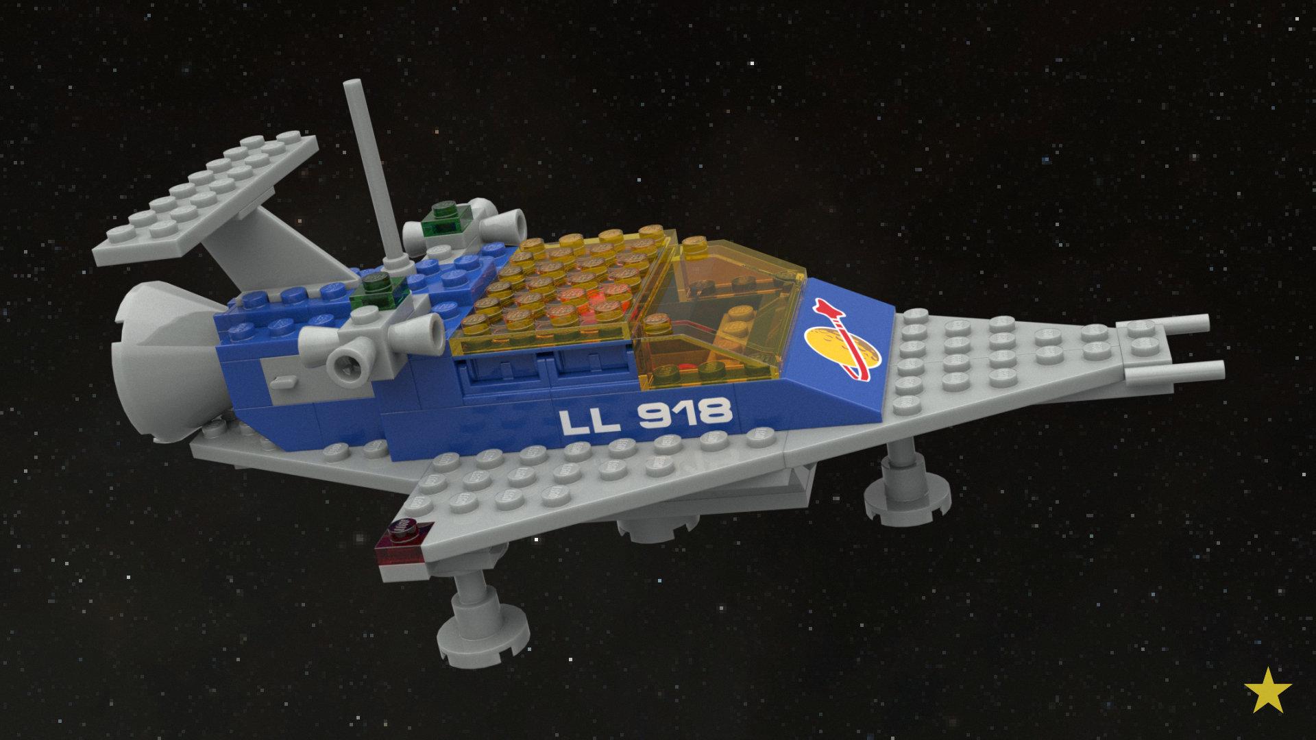 artstation - lego® 918 one man space ship, el presidente