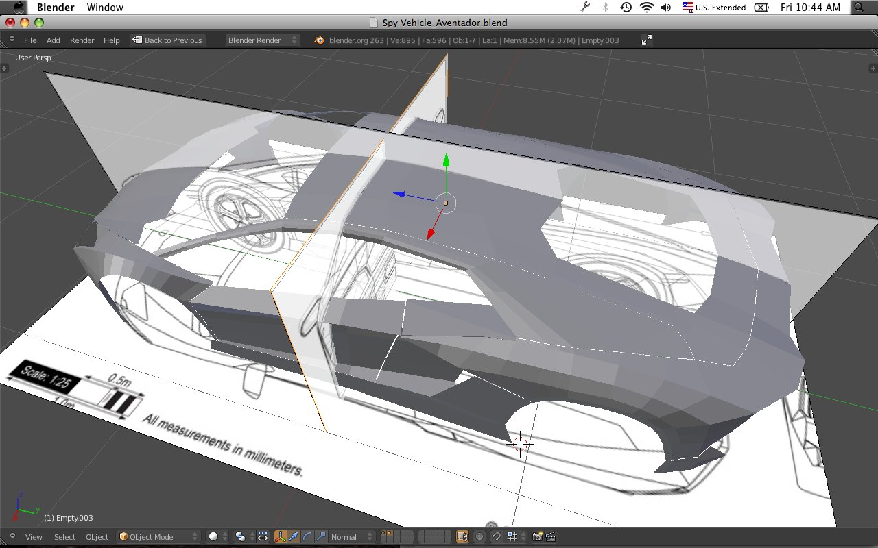 Early modeling with blueprint planes