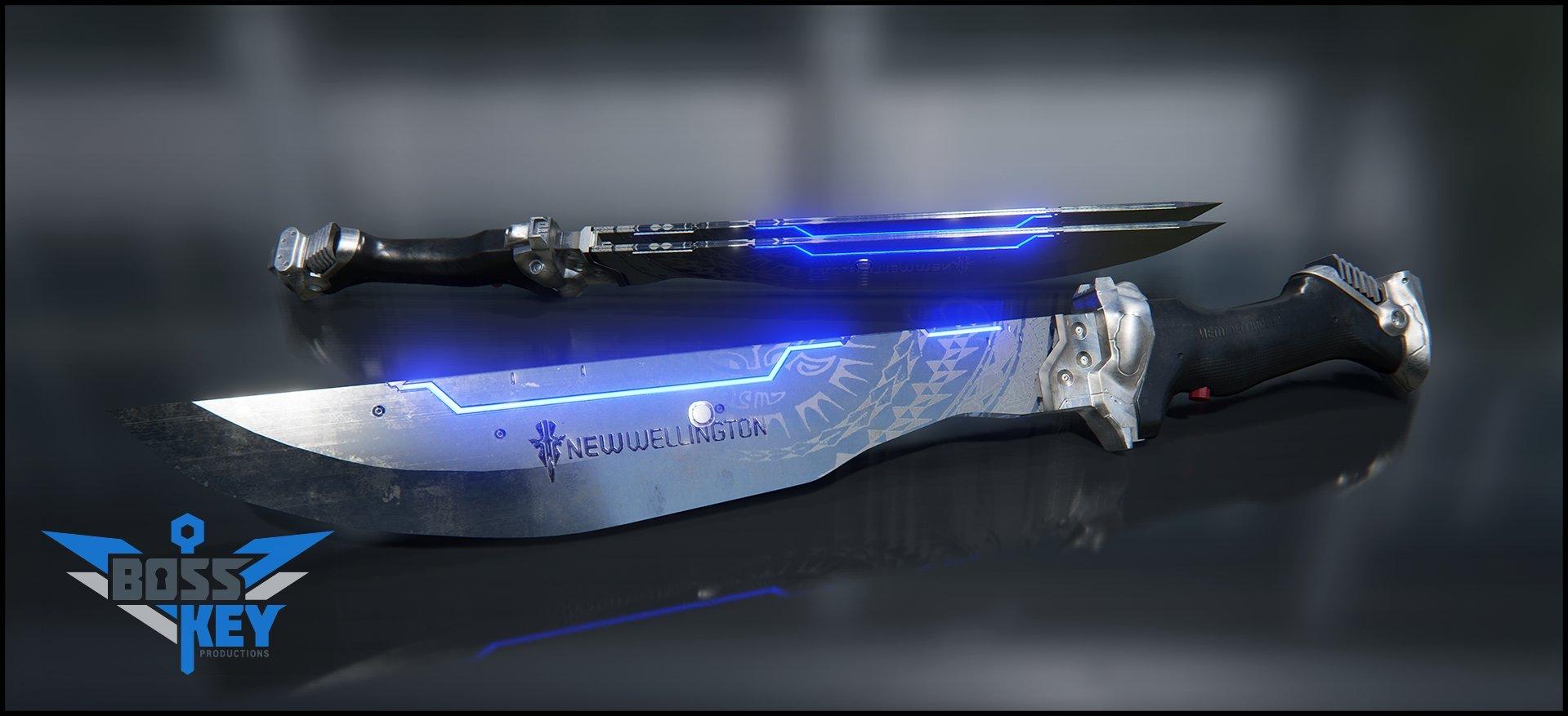 Boss key productions concept art depository taser machete 01 wm