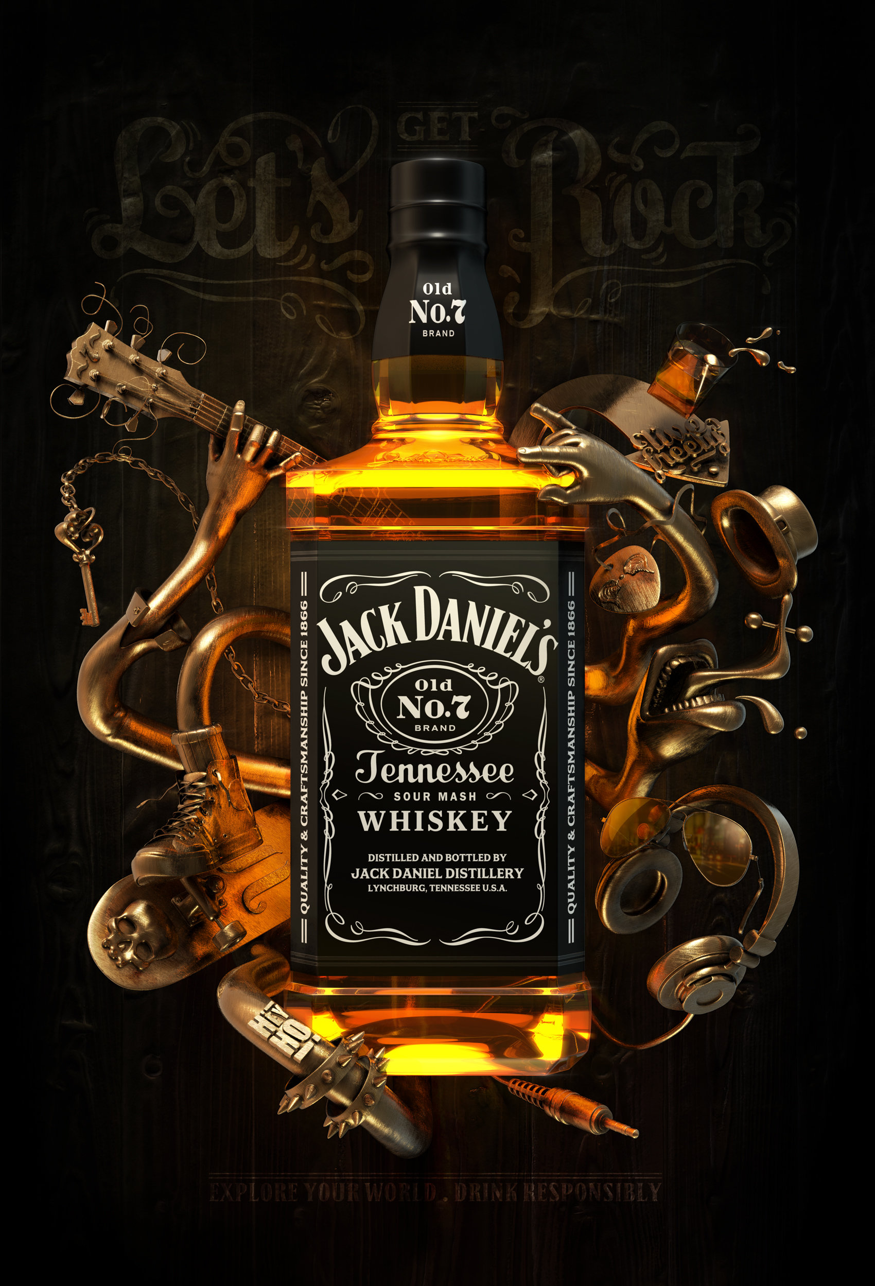 Artstation Jack Daniel S Poster David Rivera