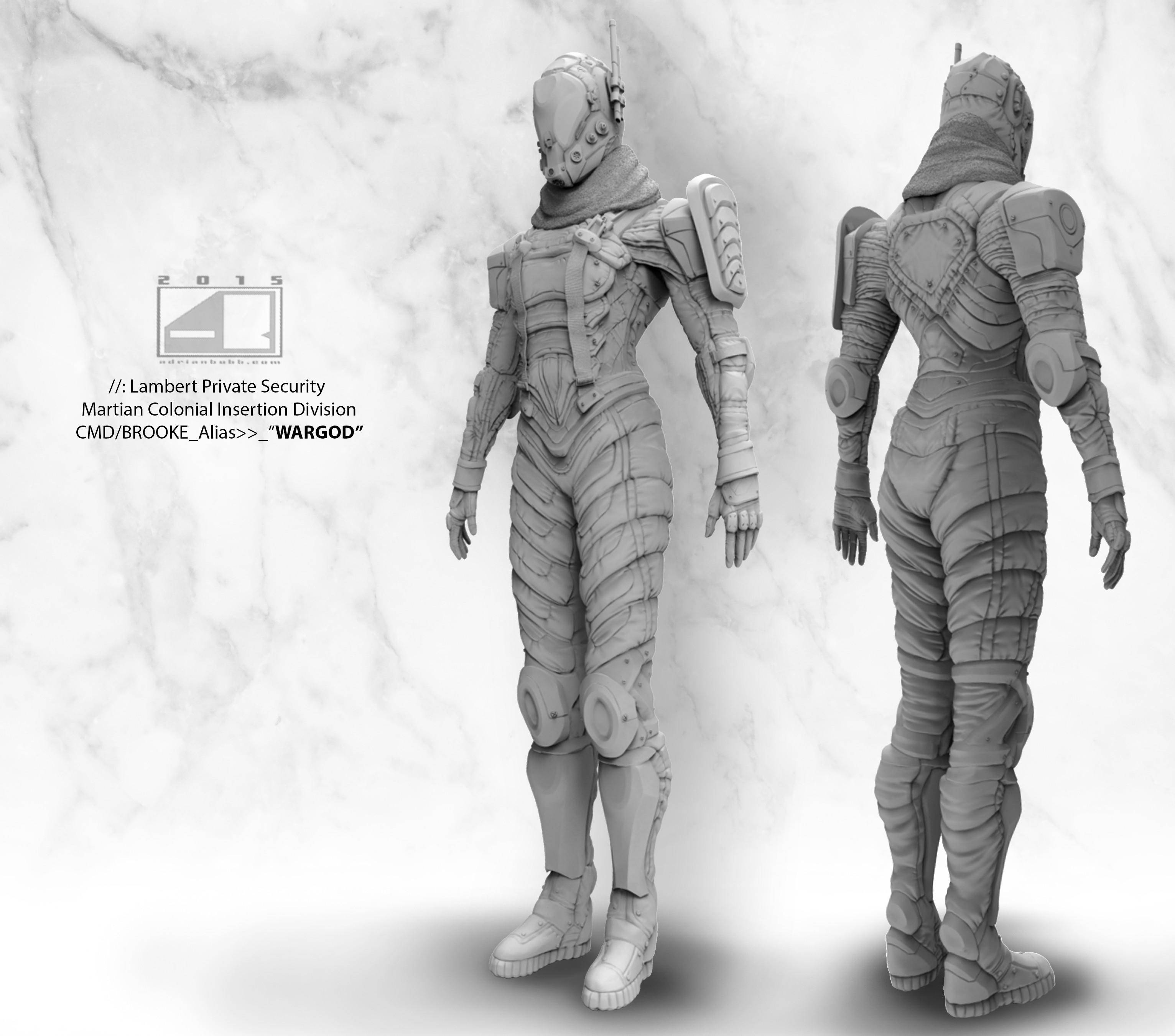 Full Body Grayscale render