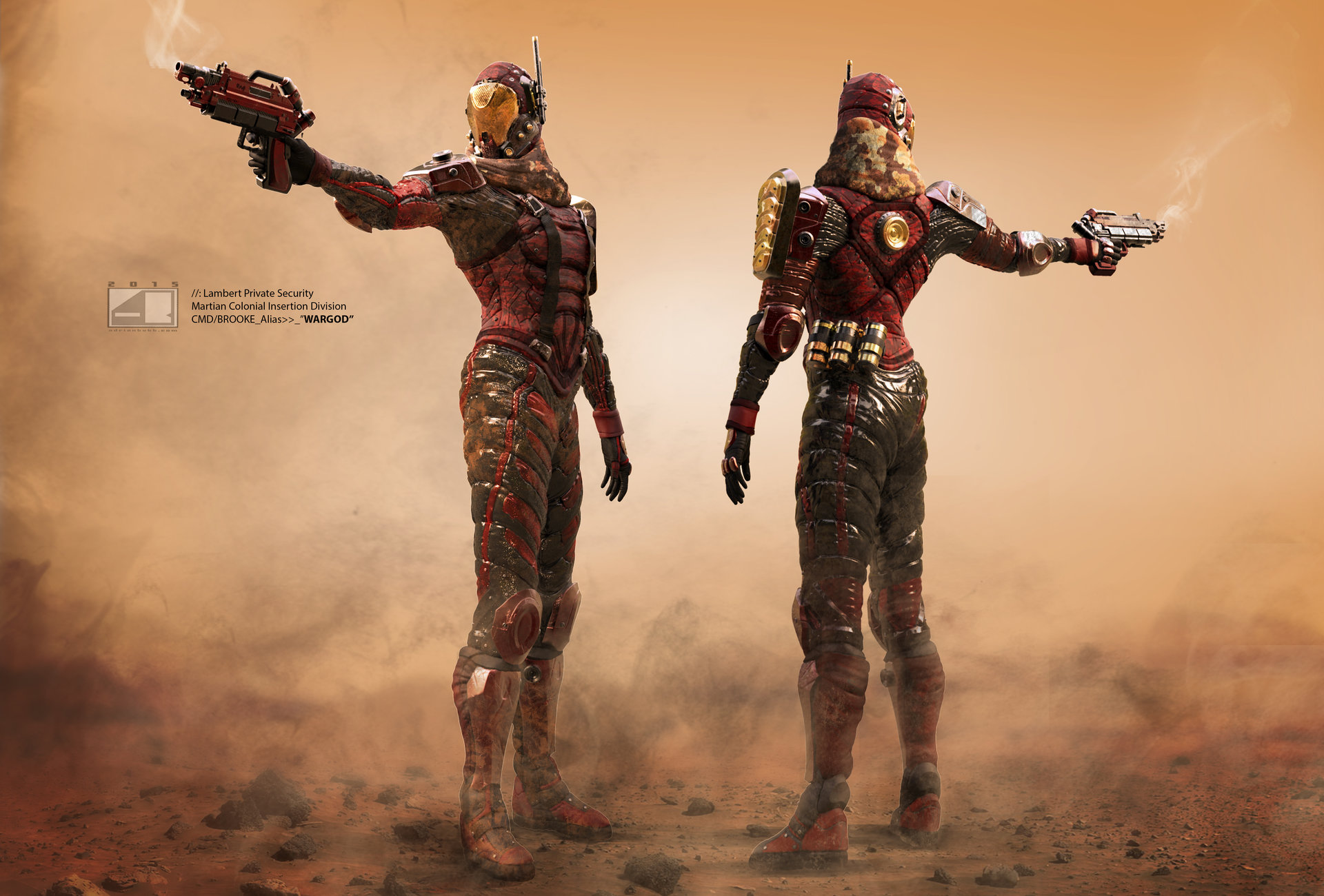 Martian CID Commander (Full Body Color and Texture Render)