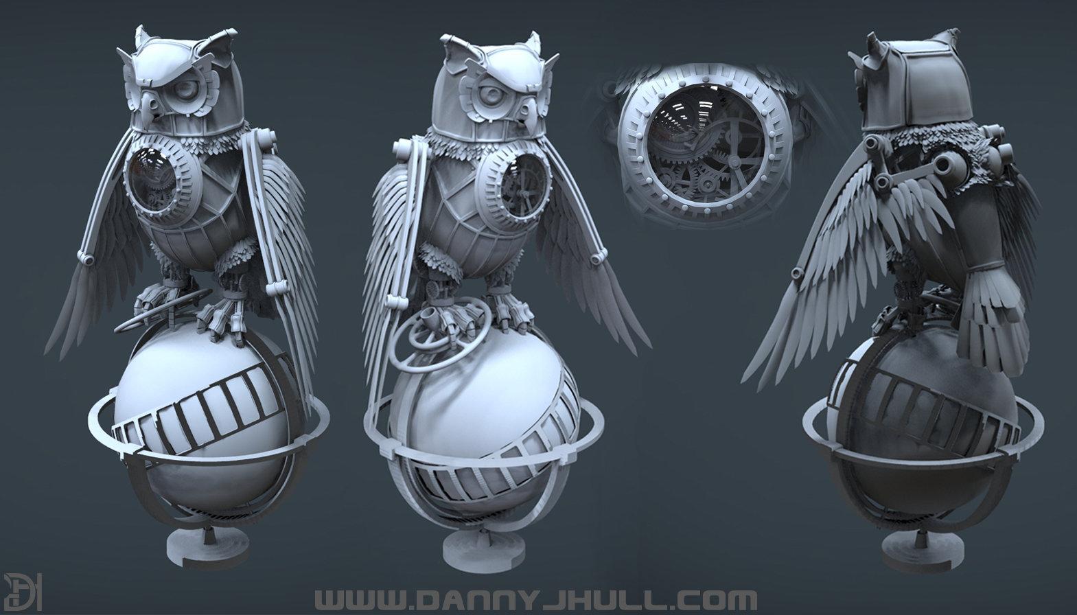 Daniel hull owl render