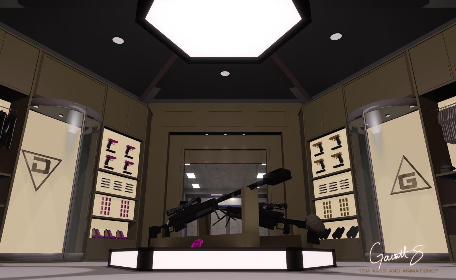 Mr. G (Agent G) and Daisy's (Agent D) wardrobe room design