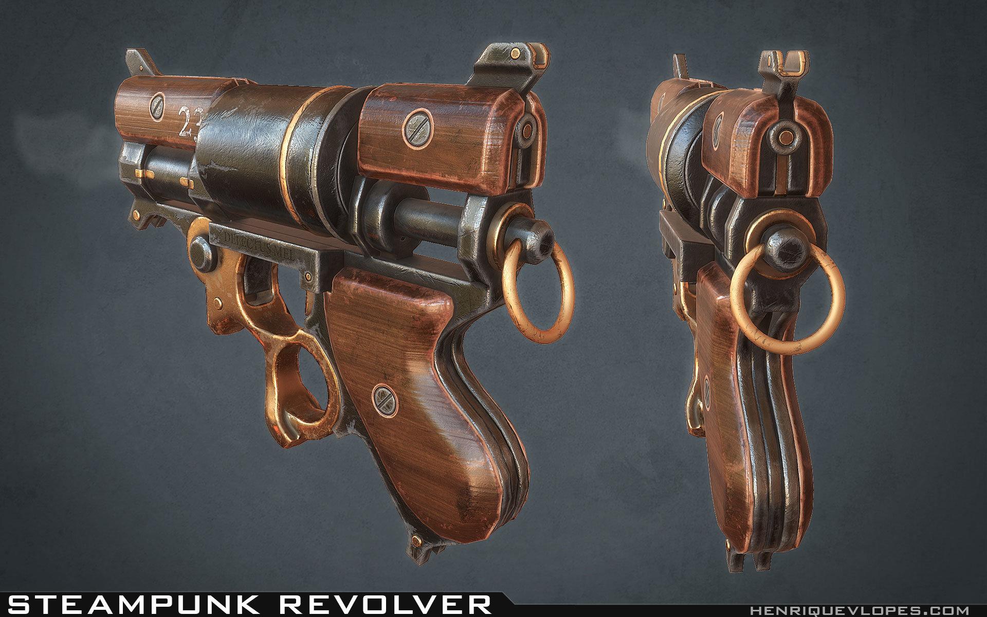 Henrique lopes steampunk revolver lp 01
