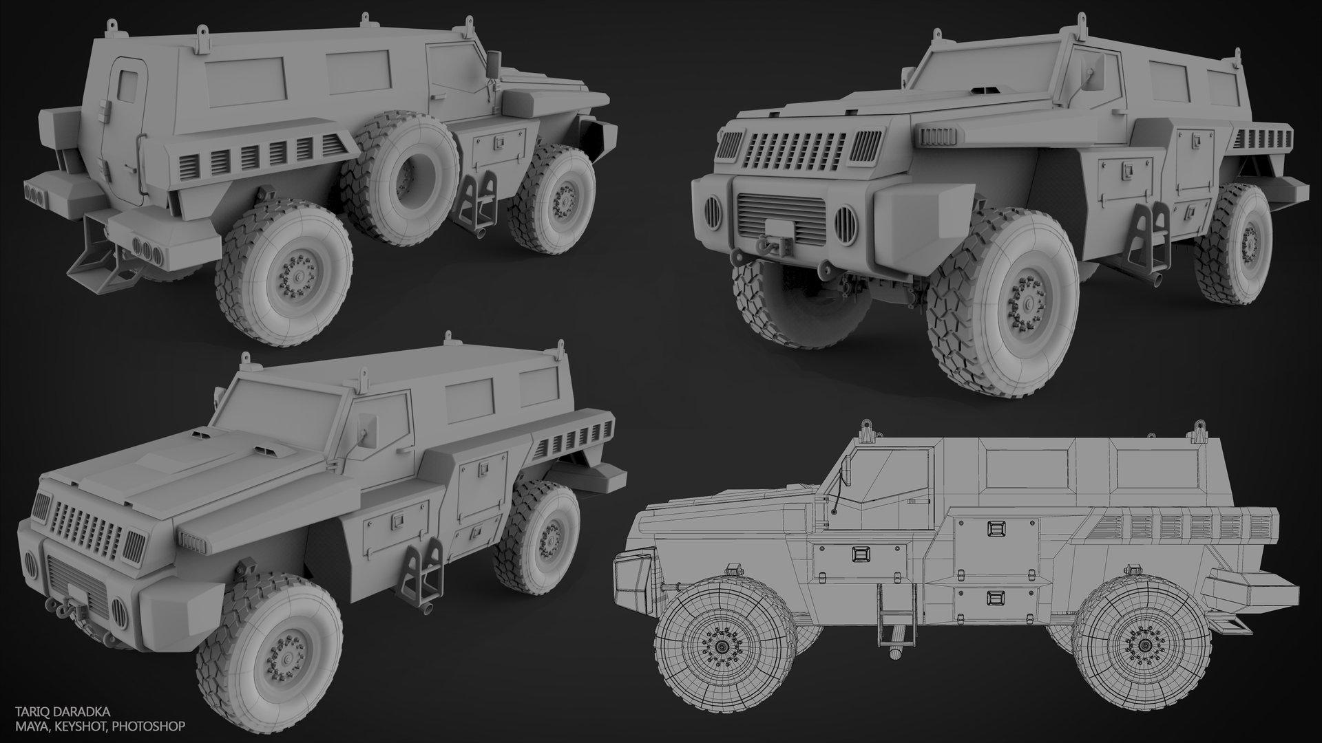 tariq daradka marauder military vehicle