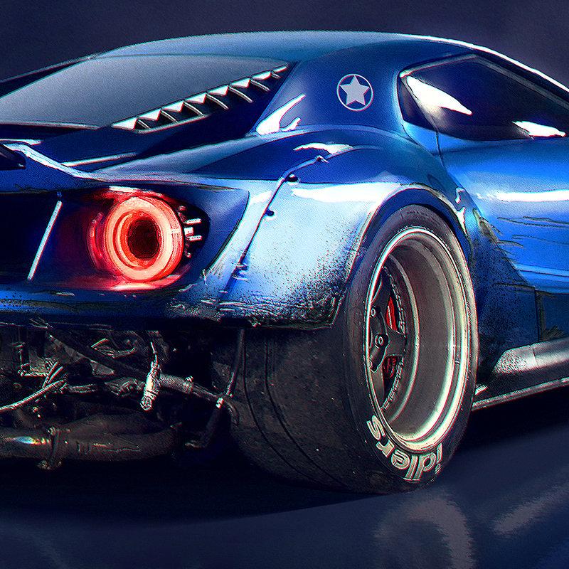 ArtStation - Rocket Bunny Ford GT, Timothy Adry