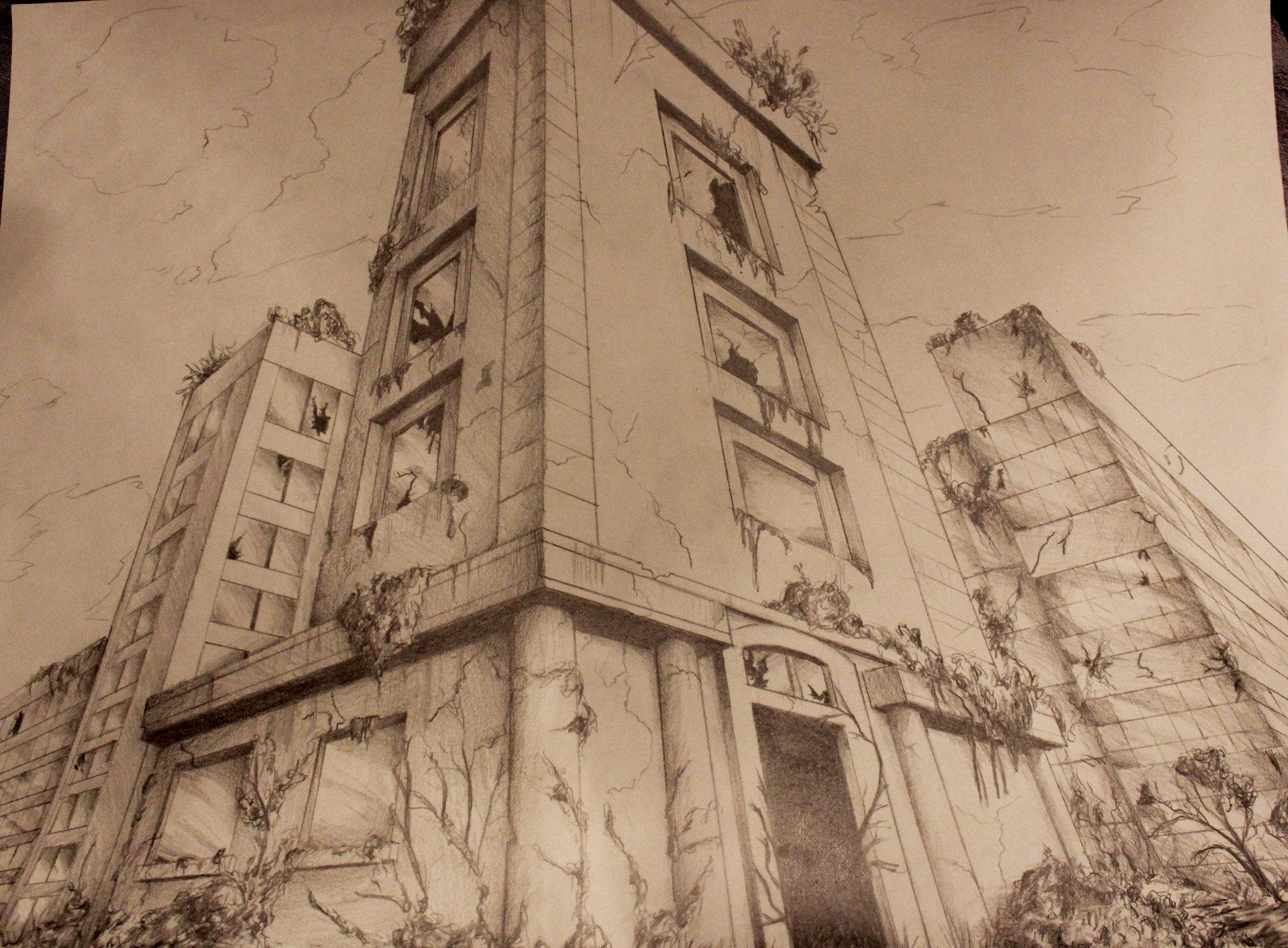 Anouchka Strauven - Post apocalyptic city