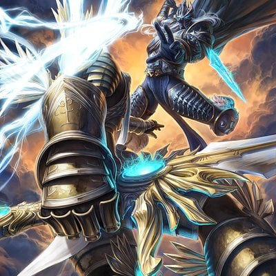 Warren louw arthas and tyrael