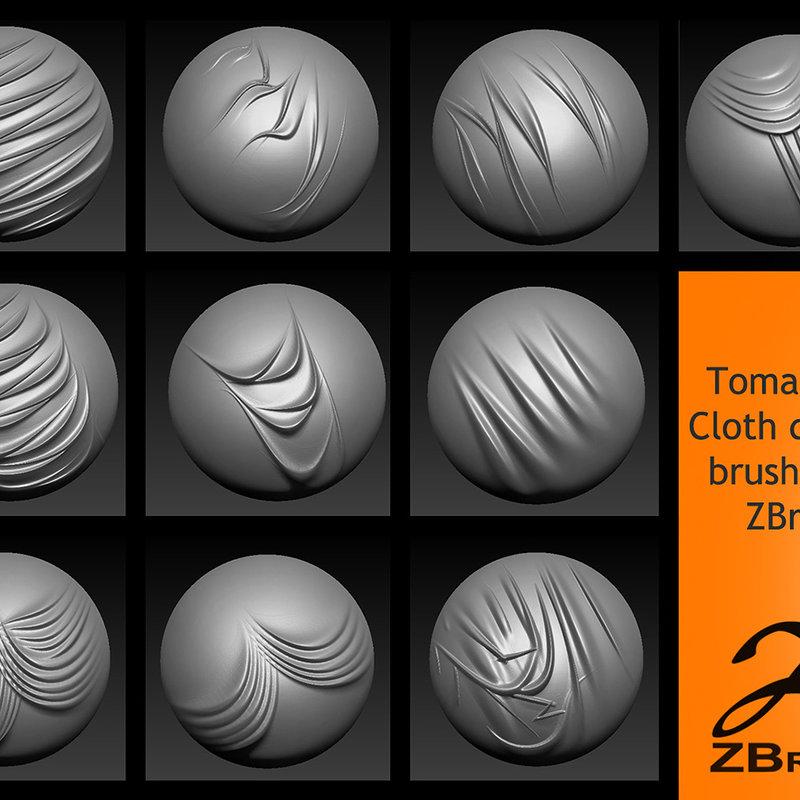 Zbrush как сделать складки