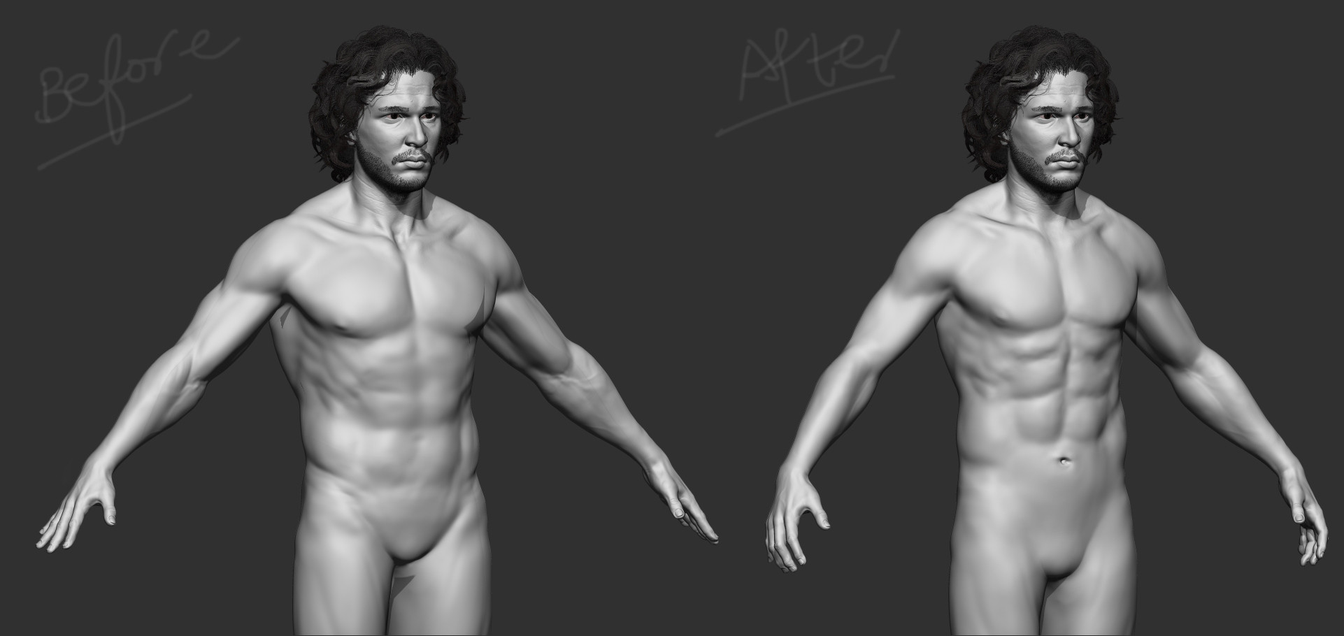 Body Proportions update. (Based on real actor height and proportions)
