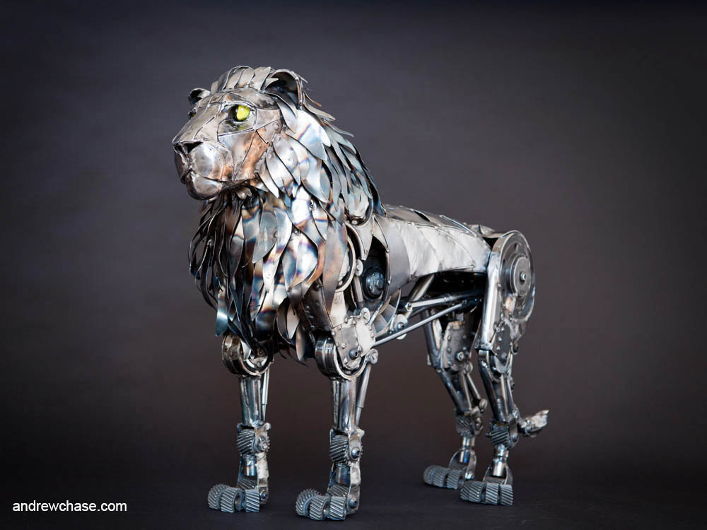 Andrew chase mechanical metal lion three quarter 2