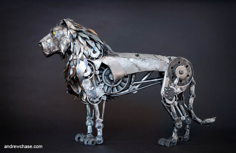 Andrew chase mechanical metal lion side 2
