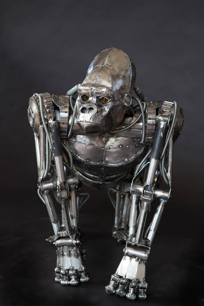 Andrew chase mechanical metal gorilla front 2