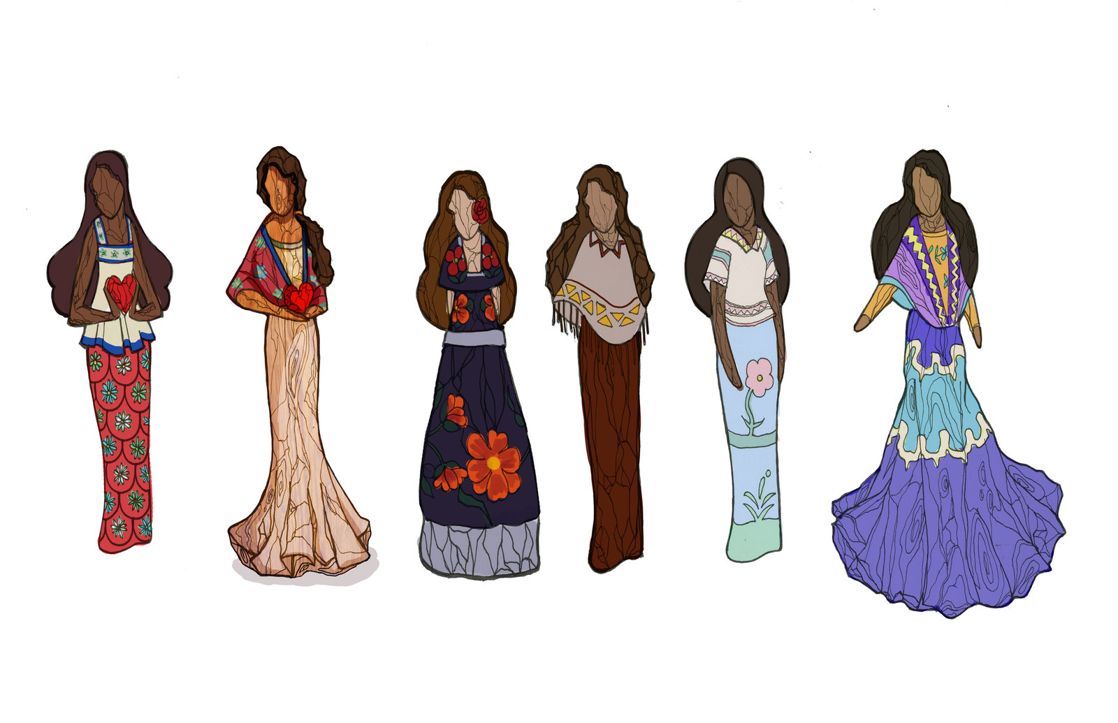 """""""Nahlah's gift"""" to Vel. I chose the second from the left as the final piece."""