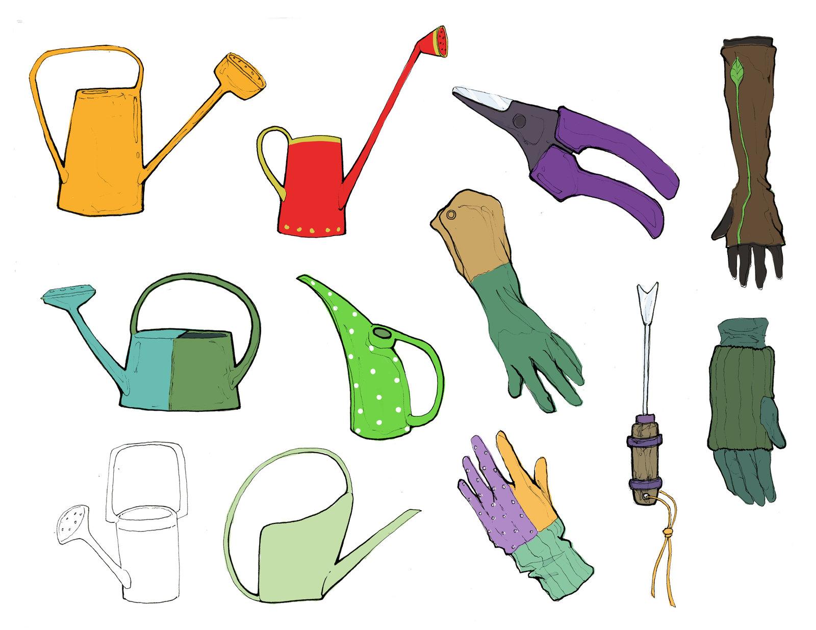 Nahlah's gardening tools.