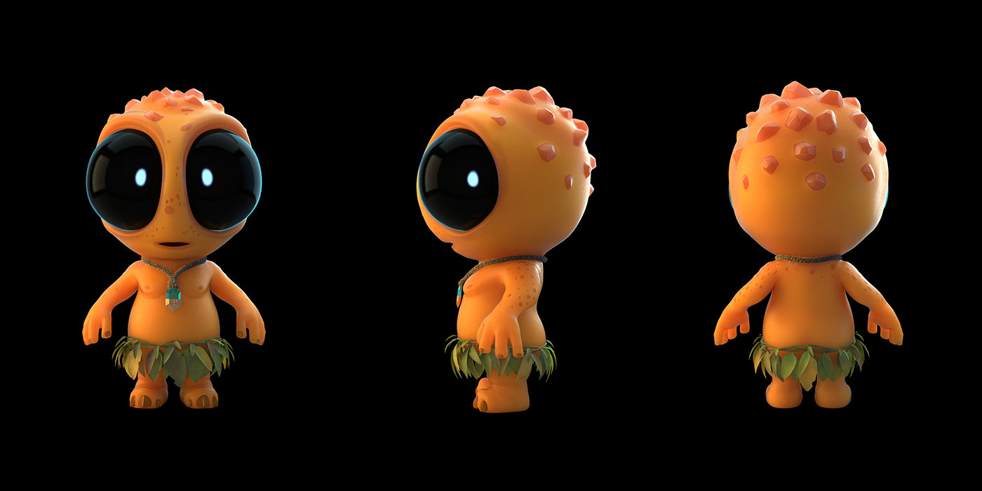 Final renders with full SSS shaders for Chibeastie's skin.