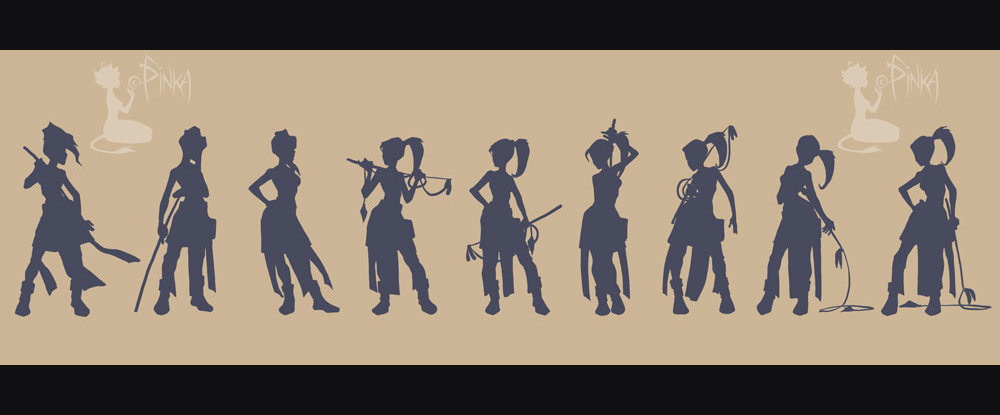 Work on silhouette