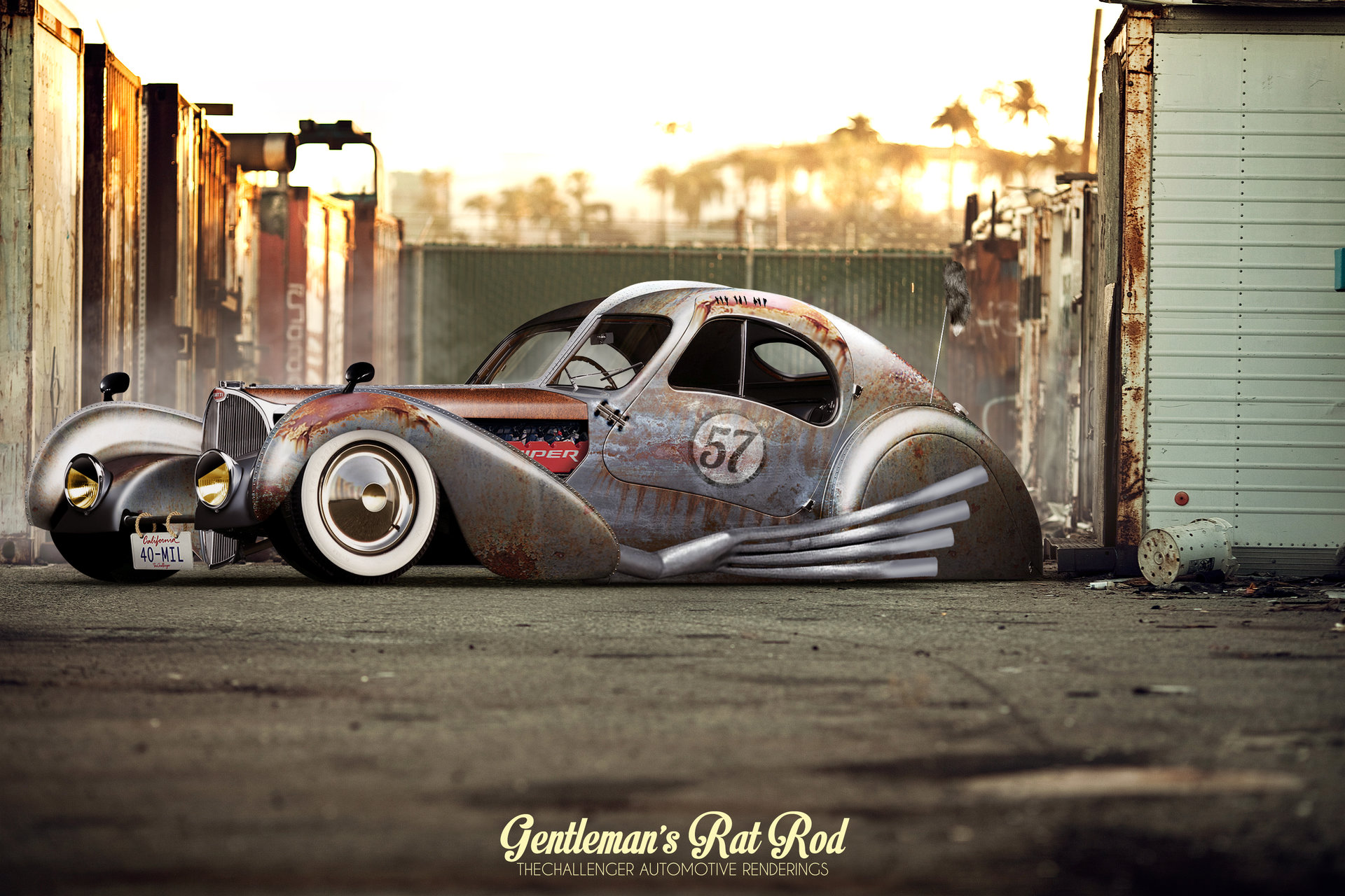 Artstation Gentleman S Rat Rod Abimelec Arellano