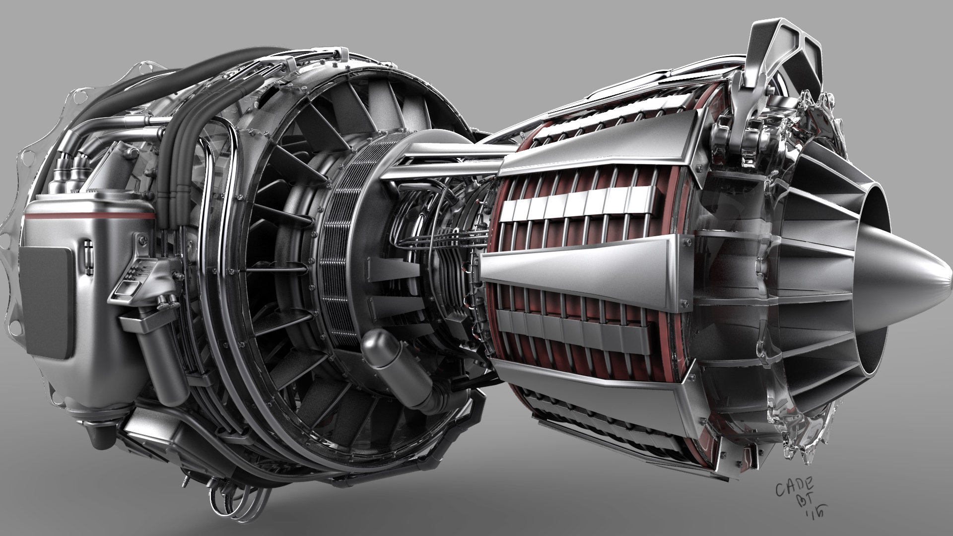 ArtStation Turbo Fan Jet Engine Cade Jacobs
