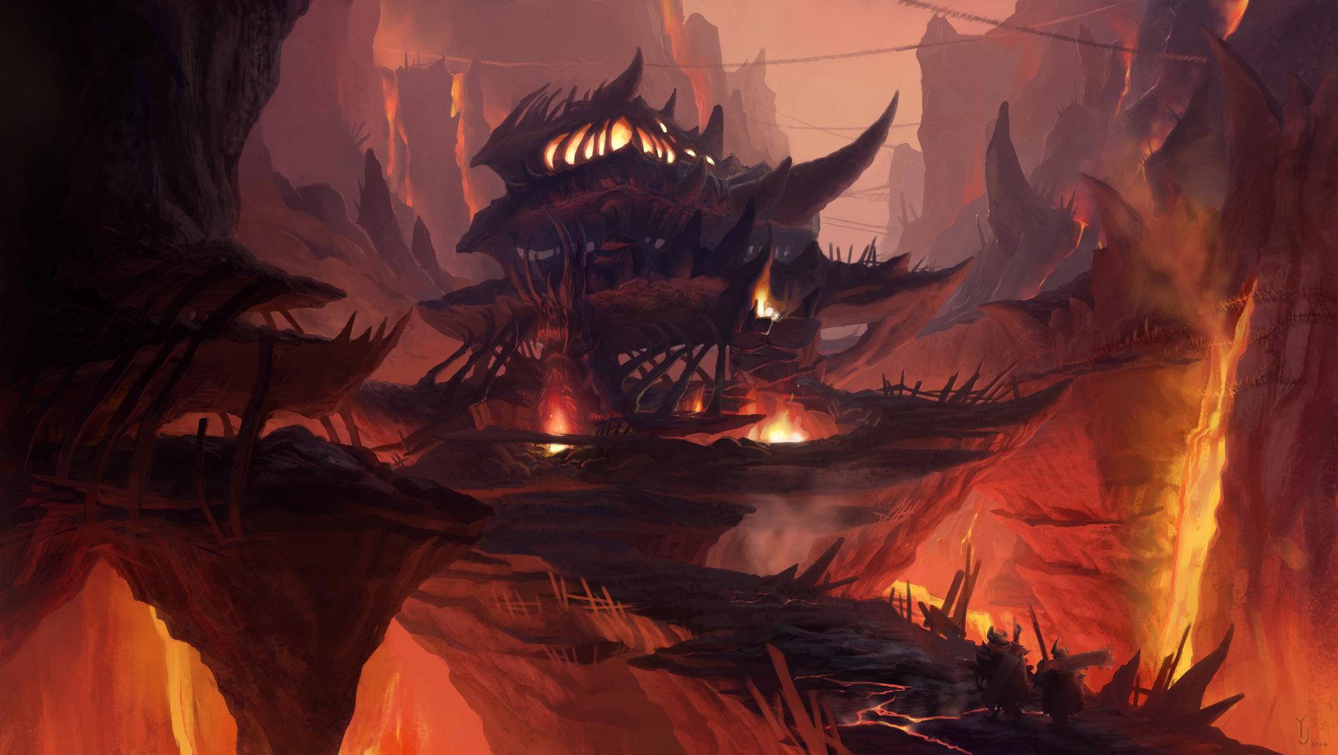 Artstation Undead Lava Town Yeonji Rhee