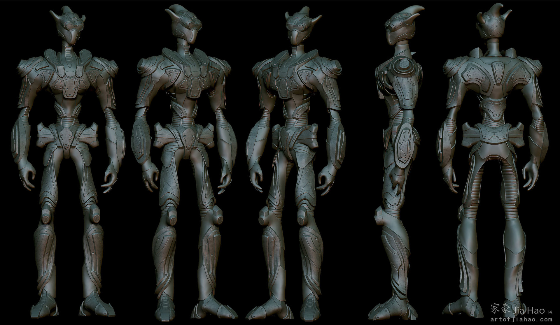 Jia hao 2014 03 alienarmor 01 views sculpt2