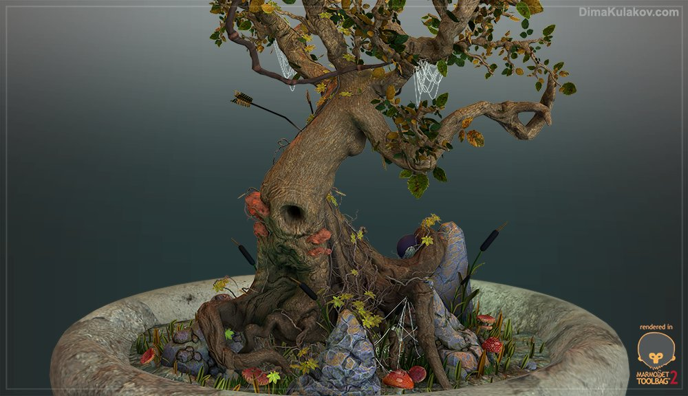 Tree Scene - Marmoset