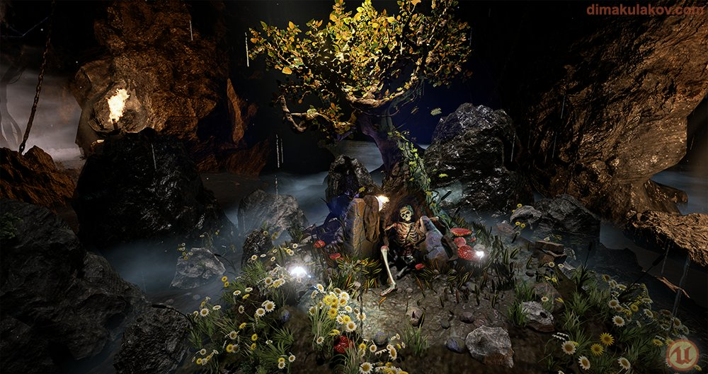 Dima kulakov tree scene ue4 2