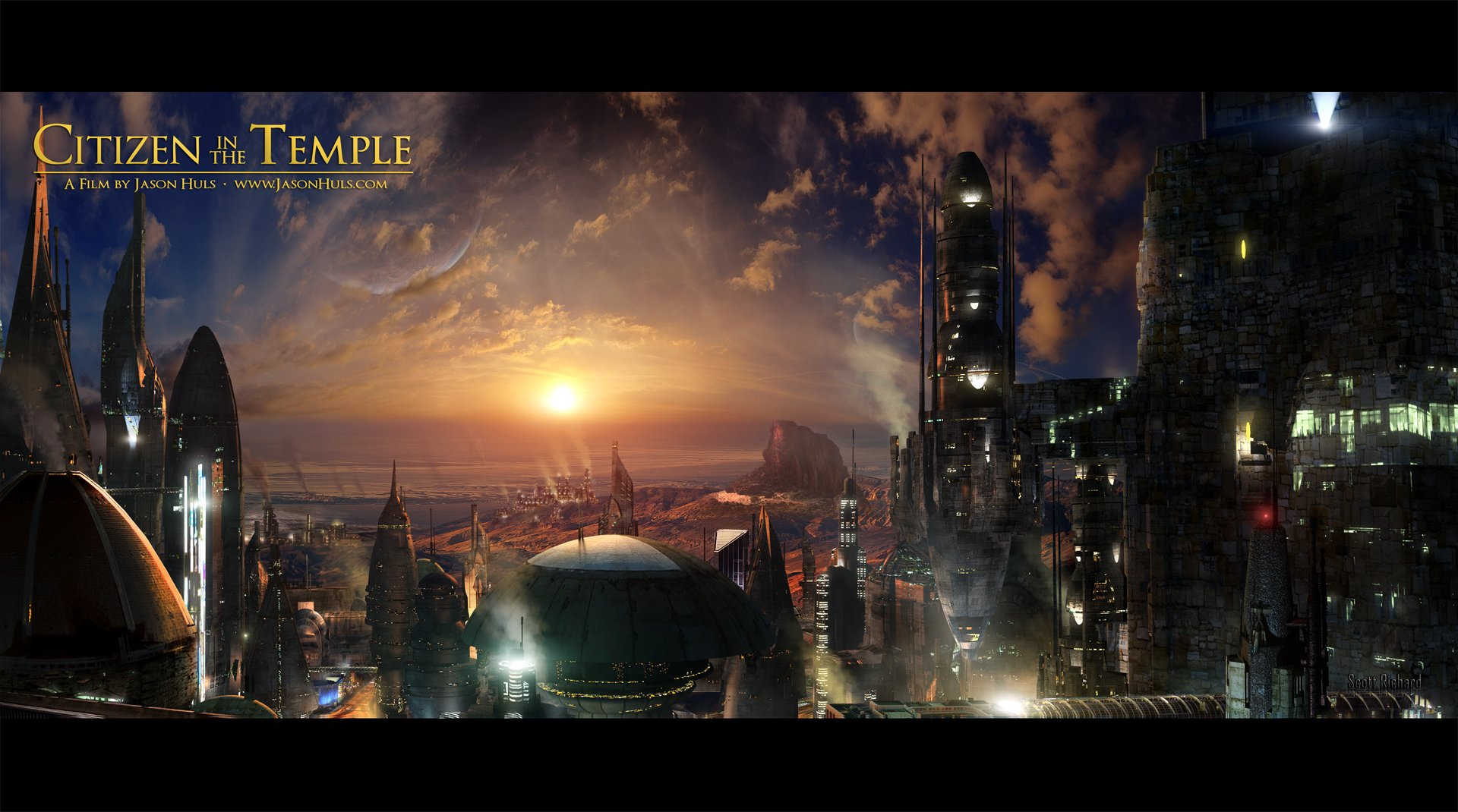 Matte Painting for the Movie Citizen in the Temple
