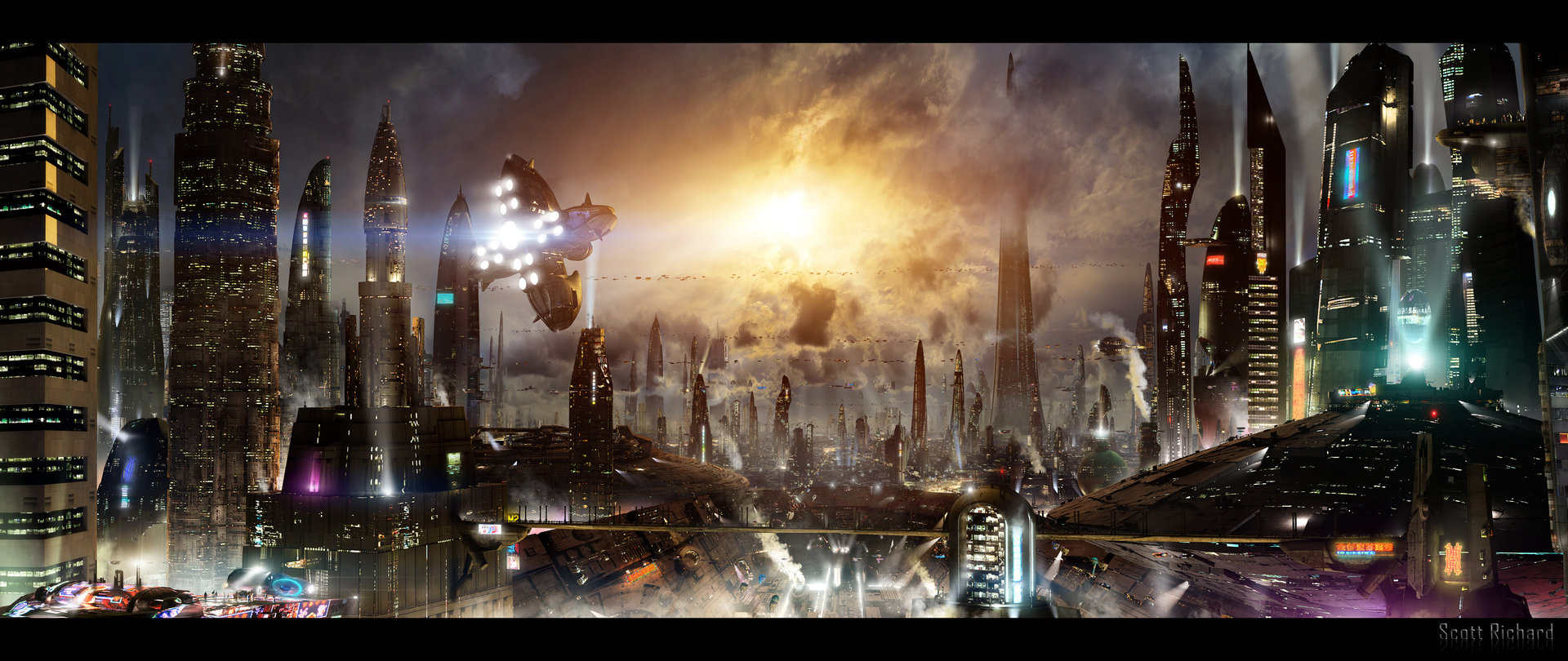 Scott richard futuristic city 3 updated background by rich35211 d5a88fo