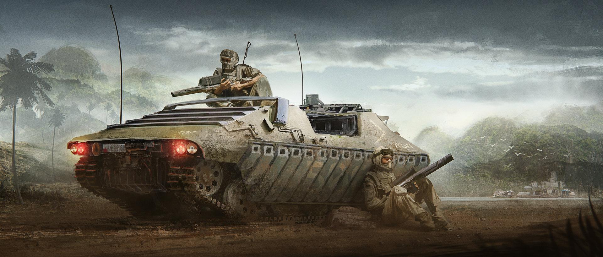 Artstation Recon Tank Concept Nick Foreman