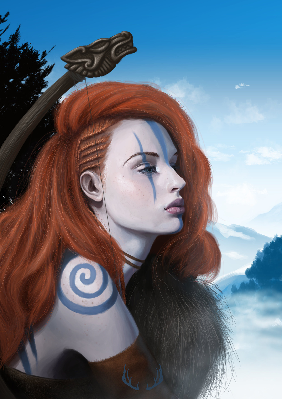 Celtic Warrior Girl