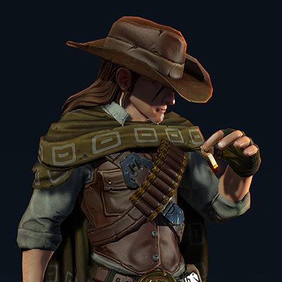 Satoshi arakawa male gunslinger medium turnaround