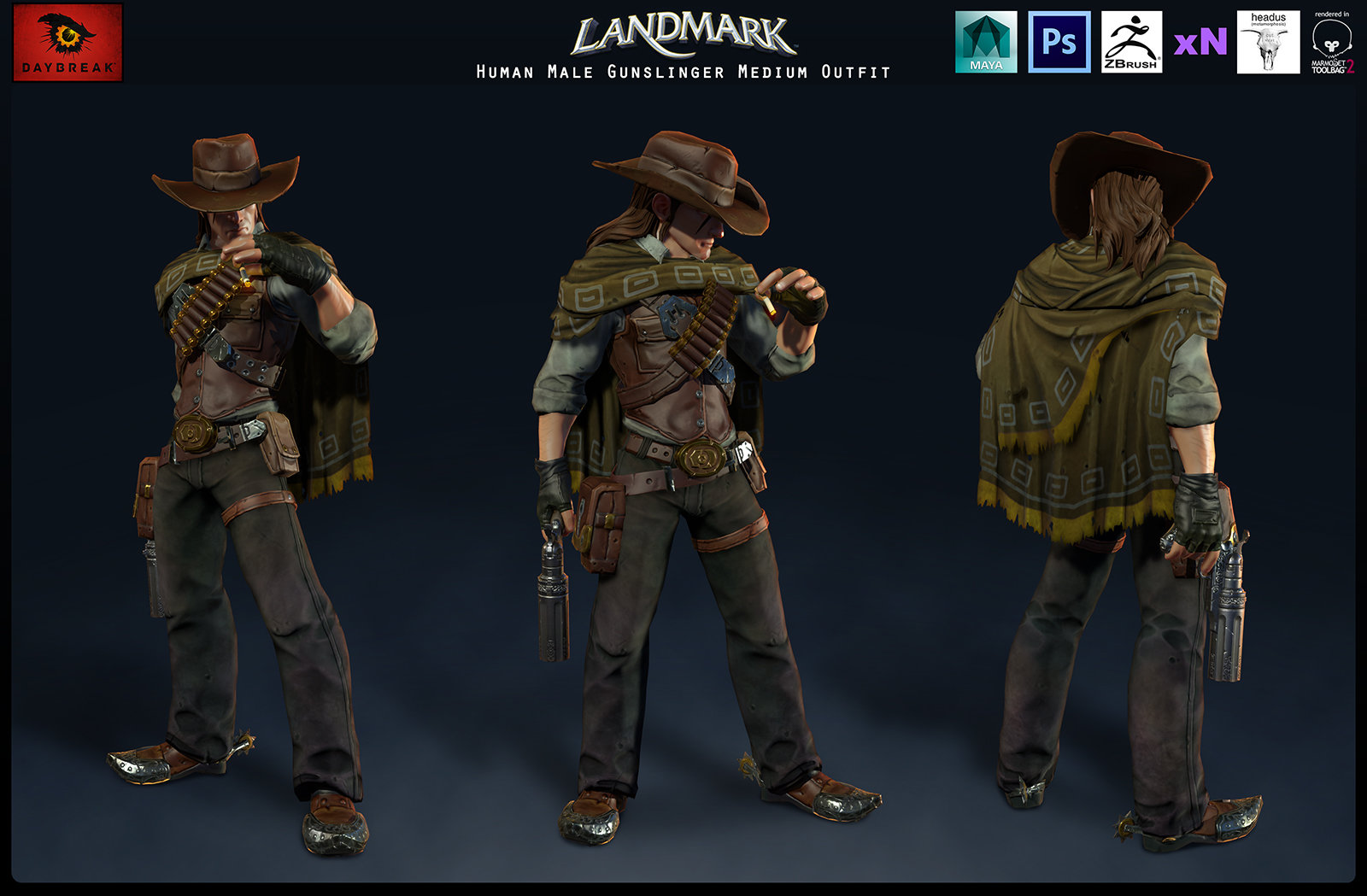 Human Male Gunslinger Medium Outfit