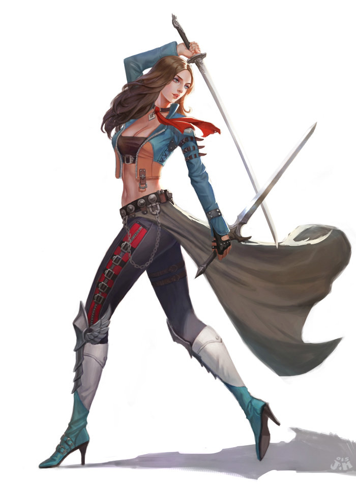 Anime Characters Use Dual Swords : Artstation two swords ㅇㅇ joo