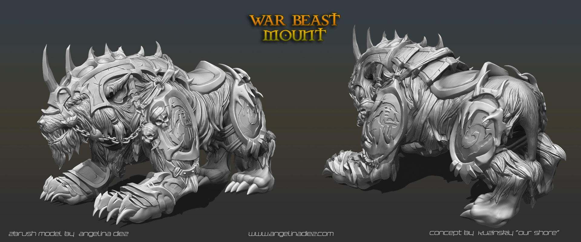 Angelina diez beastmount by shadyra
