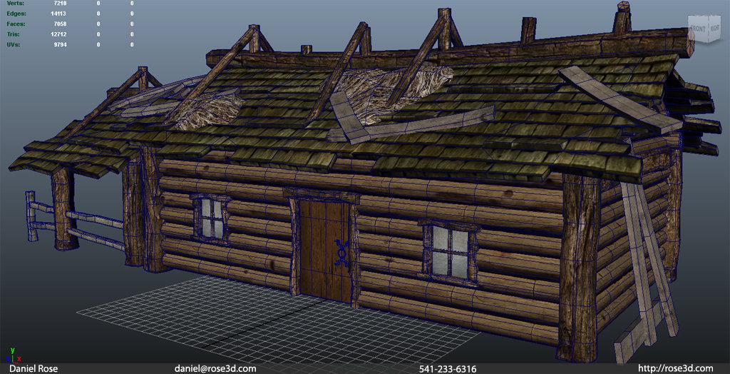 Daniel rose cabin woodsmodel