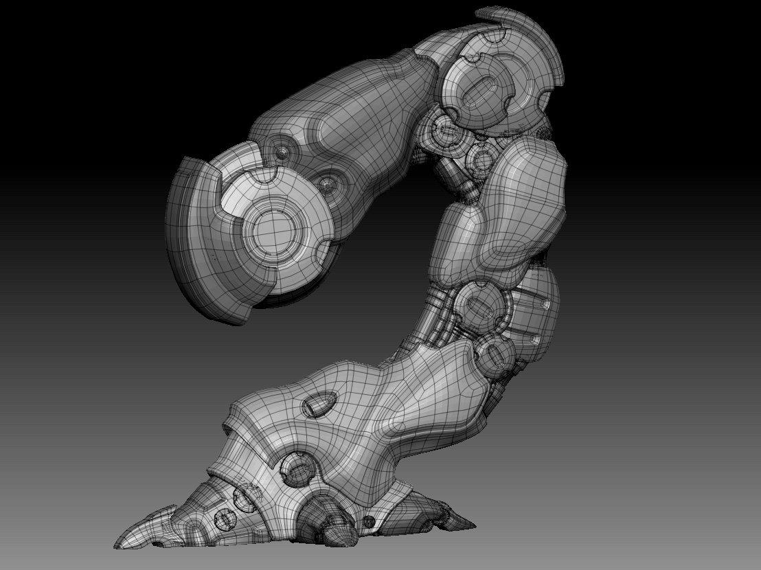 Hard surface base model.