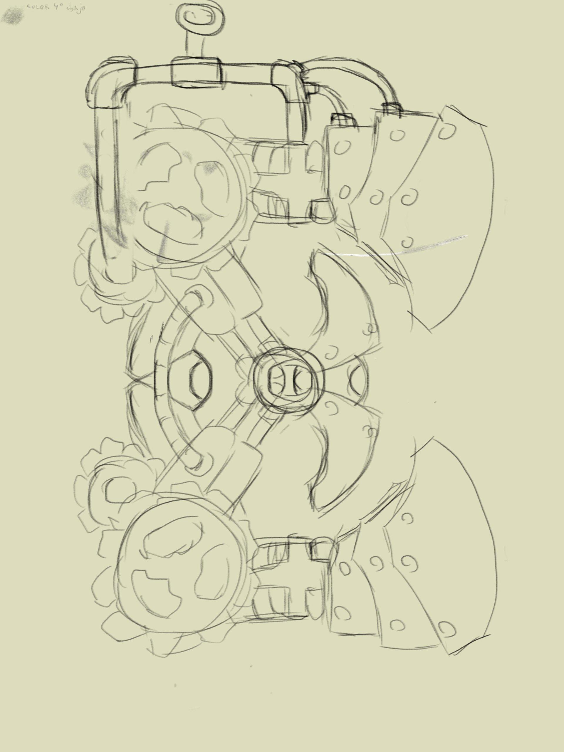 Emanuel pineiro letra steampunk boceto