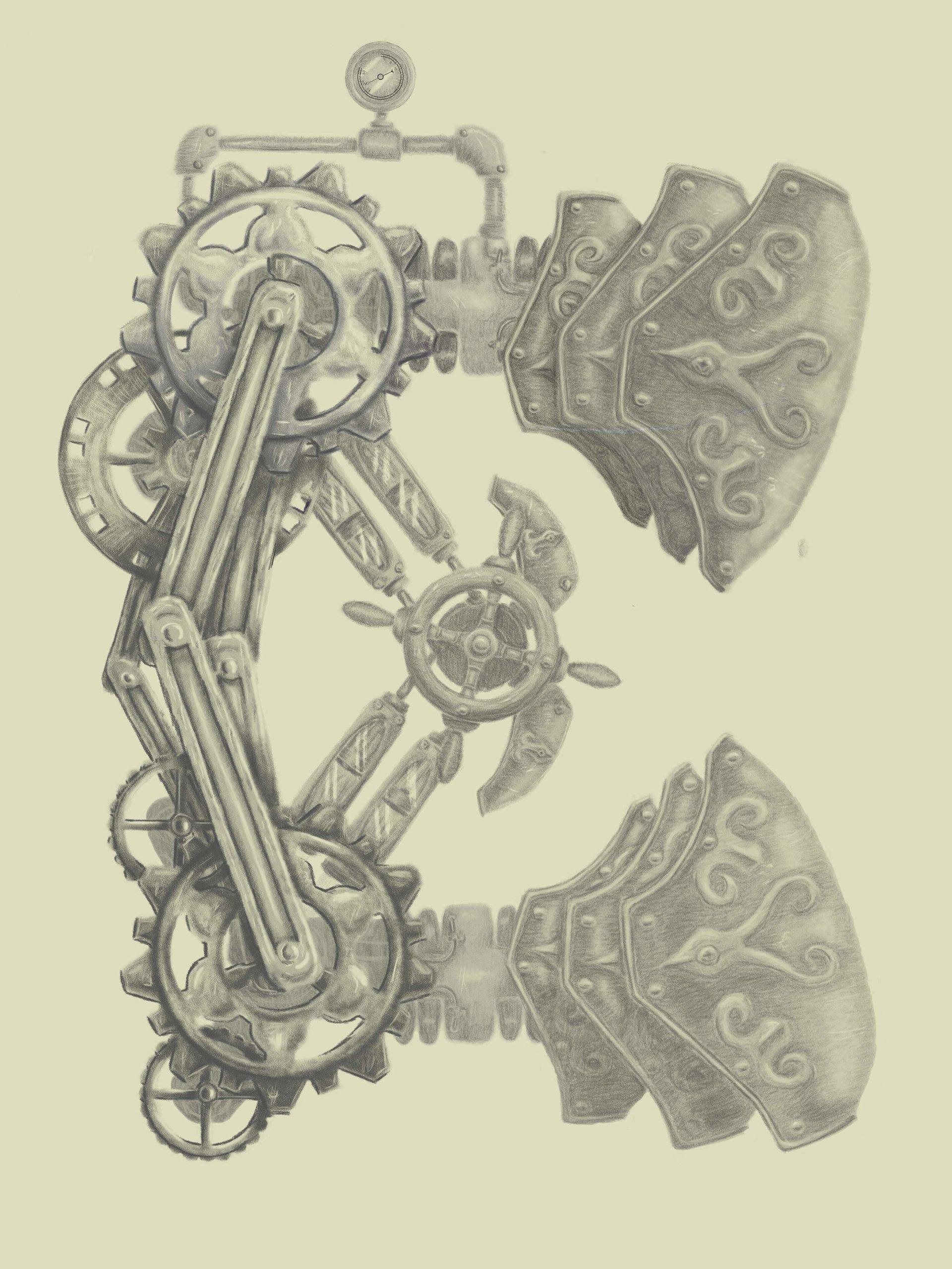 Emanuel pineiro letra steampunk 3