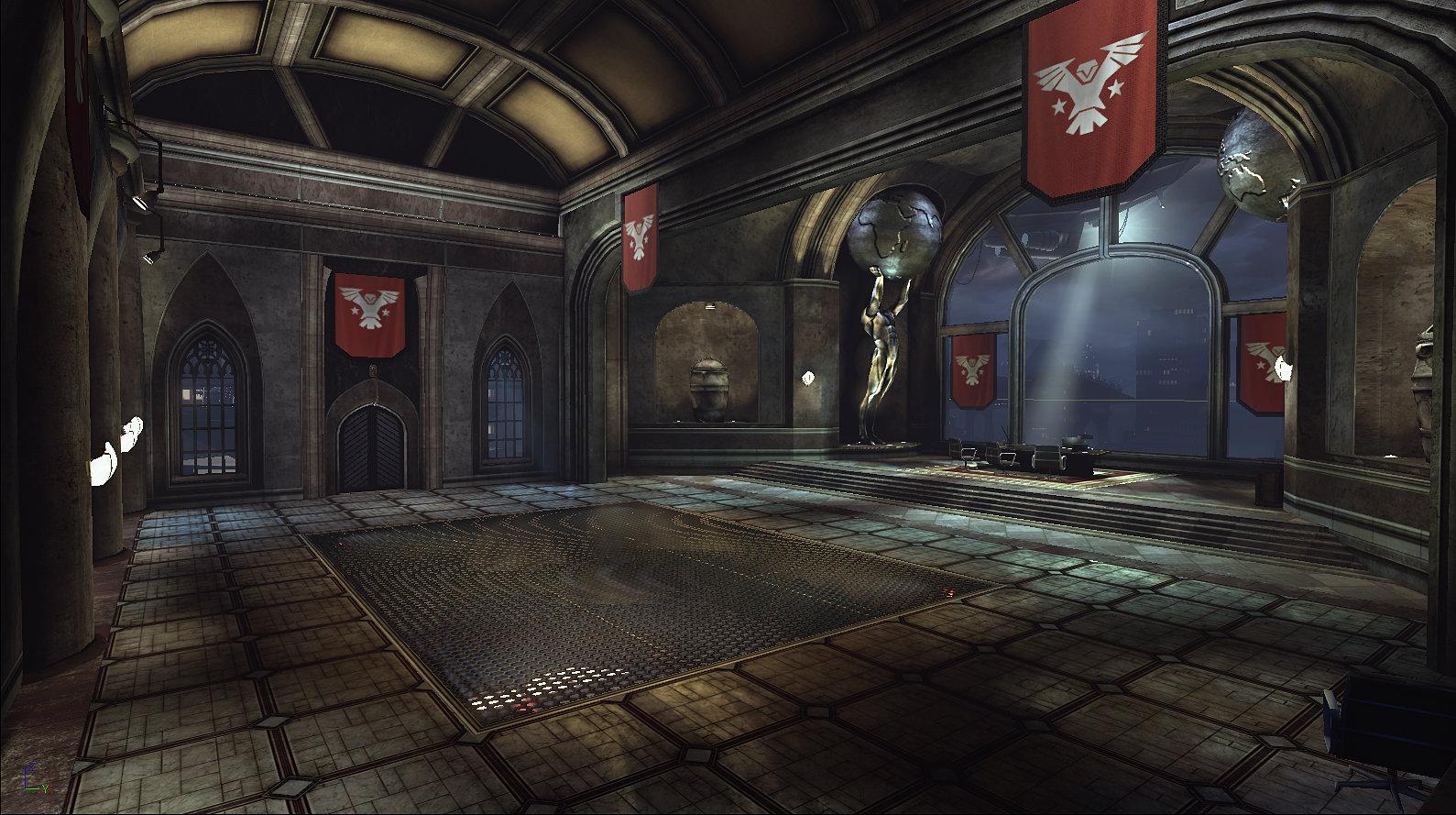 Evil version of Bruce Wayne's Office.