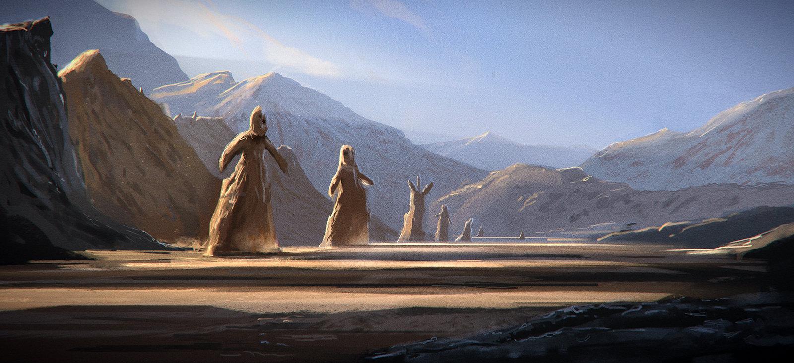 vallée des statues