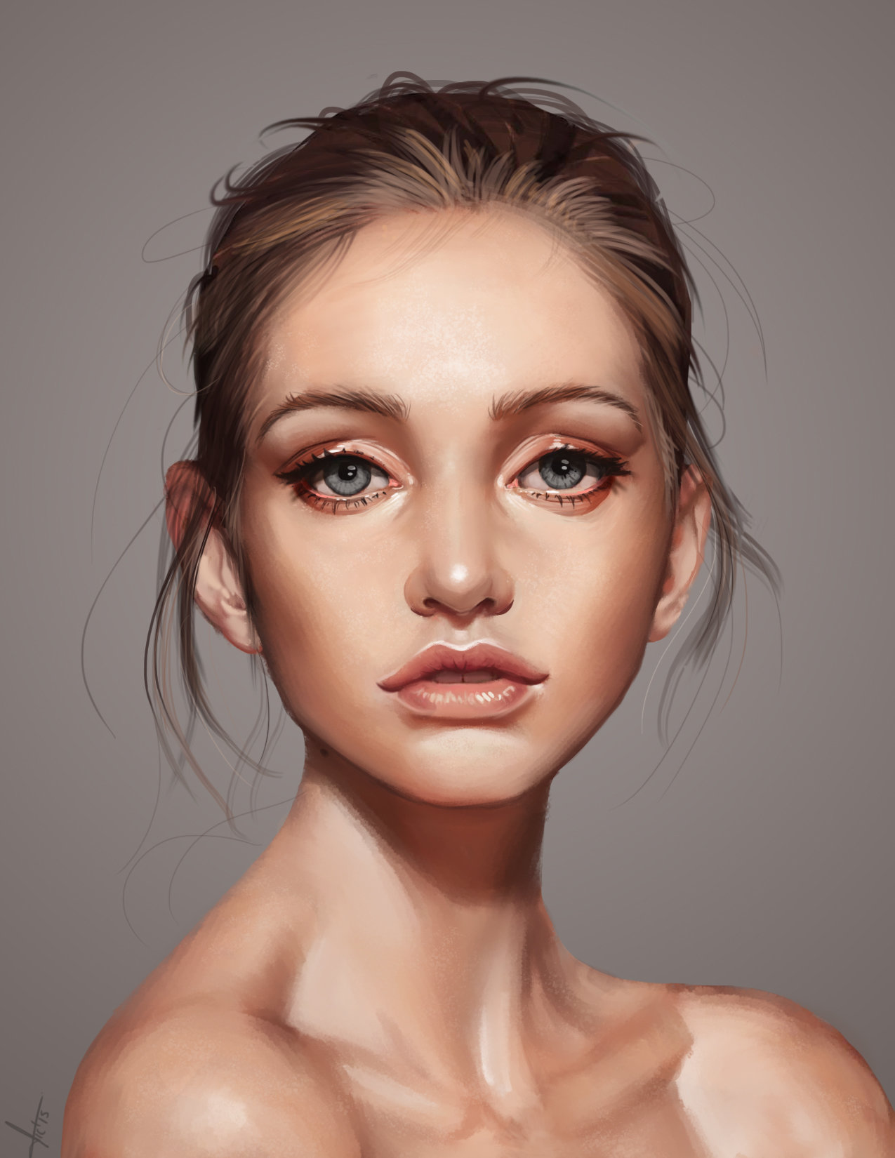 b912b3148c0 ArtStation - A beautiful face, Victor Lozada
