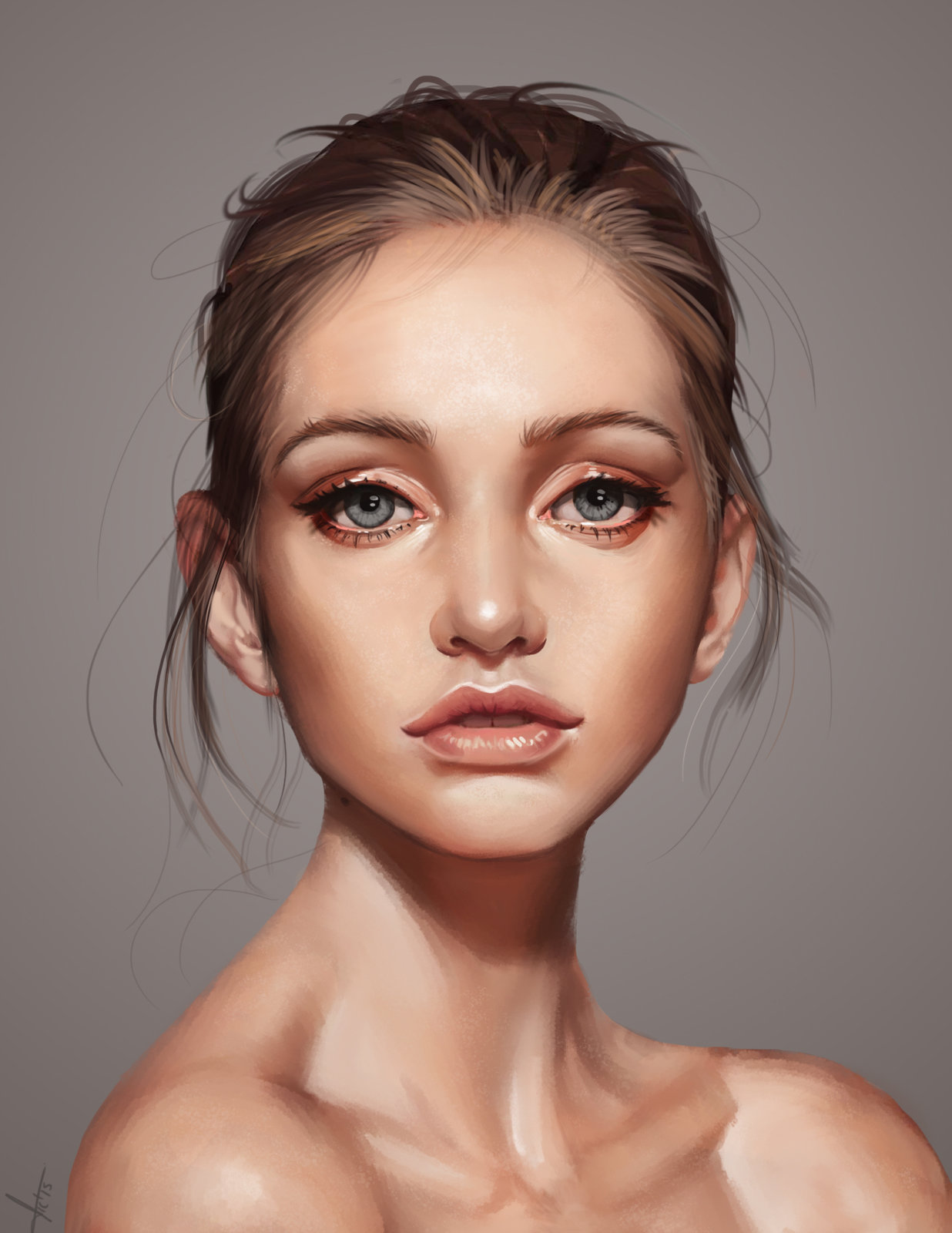 Artstation a beautiful face victor lozada baditri Image collections
