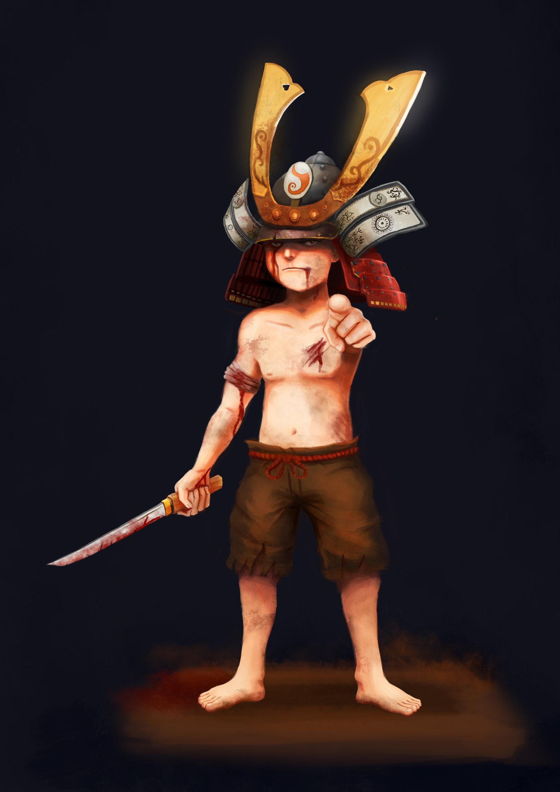 Artstation Samurai Kid Gladiator Karkeng Chan Jia Jyn