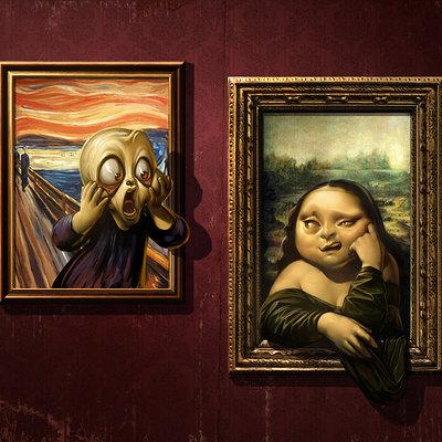 Antonio de luca the scream vs mona lisa