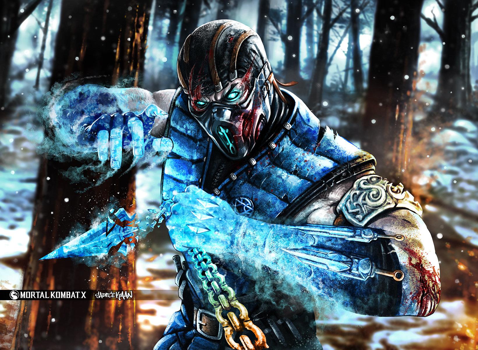 Artstation Scorpion Sub Zero Mortal Kombat X Sadece Kaan