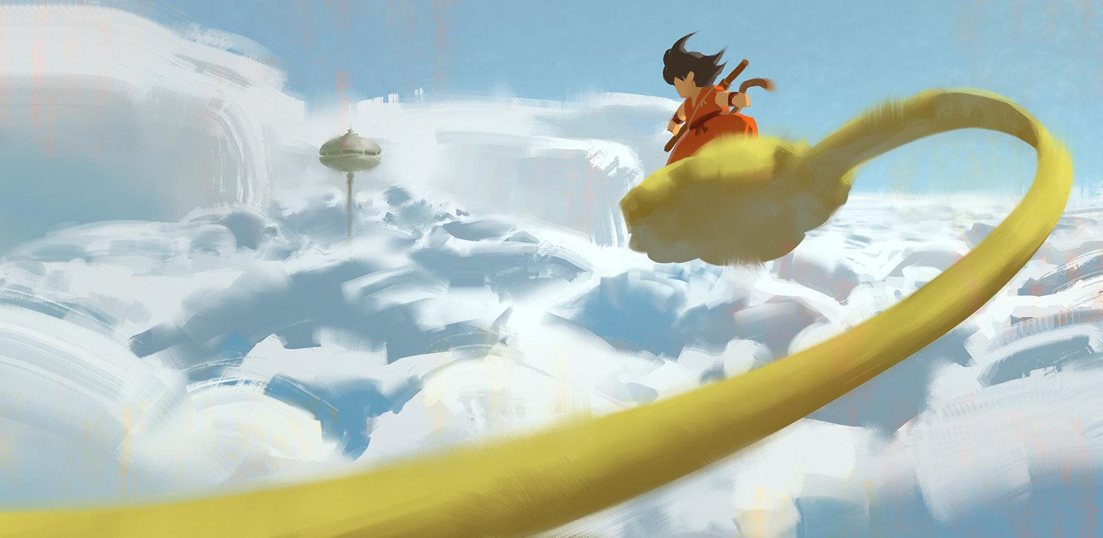 Jad saber dragon ball clouds