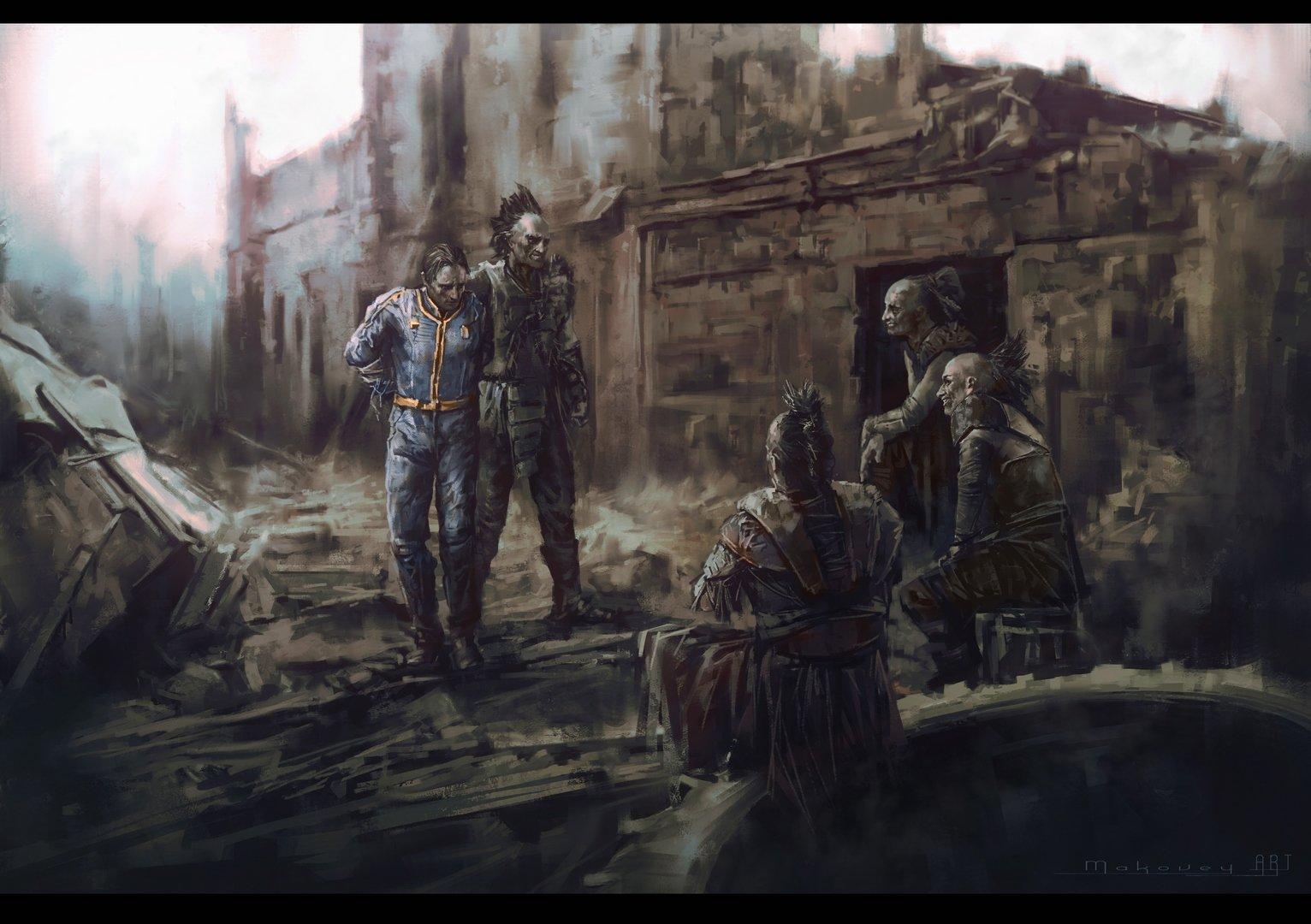 ArtStation - Raider's wasteland. №3, Mark Makovey