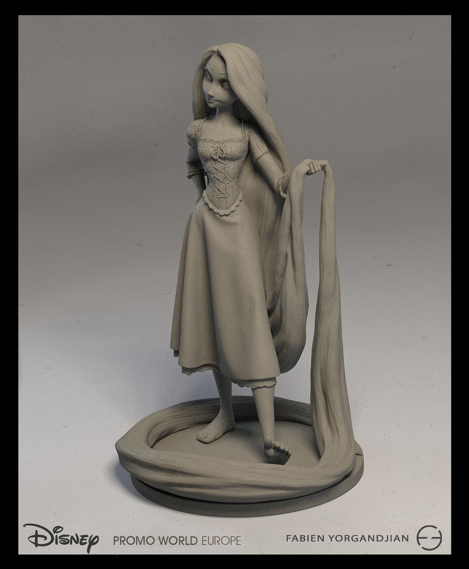 Fabien yorgandjian disney sculpt rapunzel 03